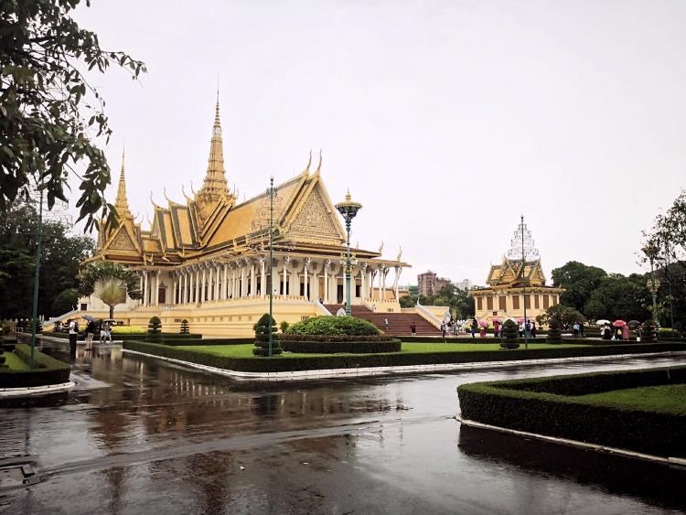 Uno degli edifici presenti nel Palazzo Reale di Phnom Penh
